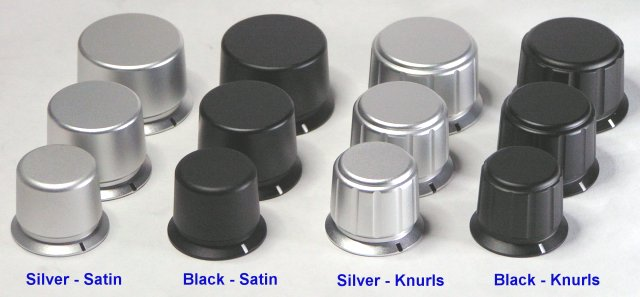 Machined Aluminum Knobs